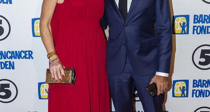 David och Anna Kinberg Batra på Barncancergalan 2018 röda matta
