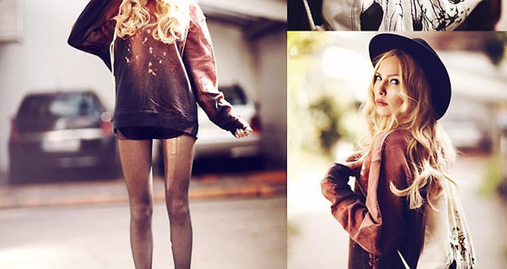 Anila från Tyskland i collagetröja och boots med spännen. http://lookbook.nu/anilat