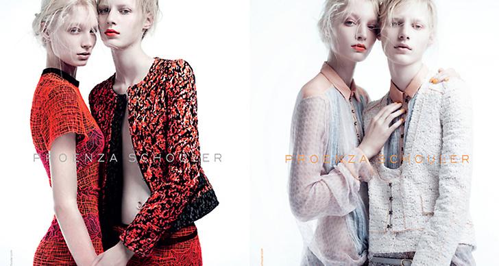 Proenza Schouler S/S 2011. Foto: Willy Vanderperre. Modeller:  Melissa Tammerijn & Julia Nobis.