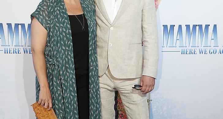 Stellan Skarsgård och frun Megan Everett