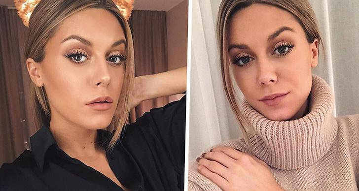 Ett bildmontage med två bilder på Bianca Ingrosso.