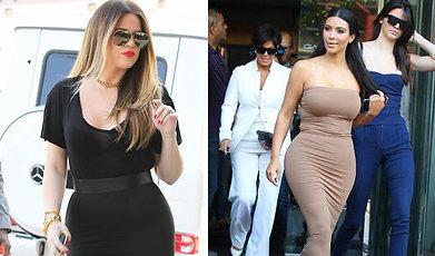 Familjen Kardashian, Mode, Kropp, former, Kurvor
